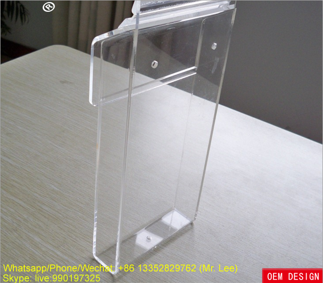 Wall mounted clear acrylic outer newspaper delivery box