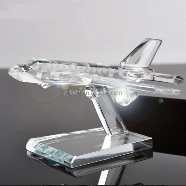 Crystal Verisimilar Plane Model Aircraft Miniature Glass Ornaments Gifts Home Decoration Accessories