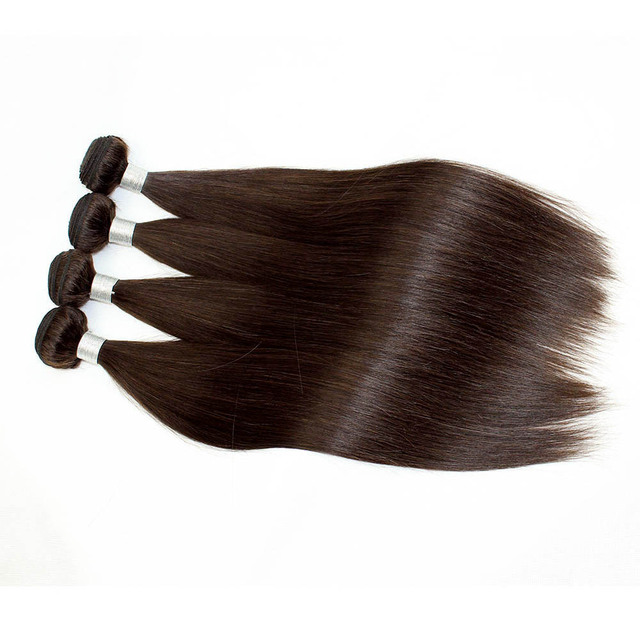 2018 New Product Dark Brown Color #2 Remy Hair Peruvian straight Hair Weave Bundles