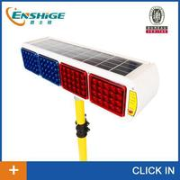 LED strobe light for traffic warning double sides solar powered