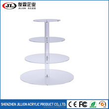 4-Tier Cupcake Stand Acrylic Tiered Wedding Cake Stand