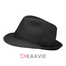 100 cotton twill wholesale cheap black fedora hats for men