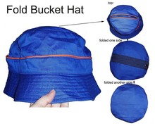 custom nylon colorful wholesale blank folding bucket hat