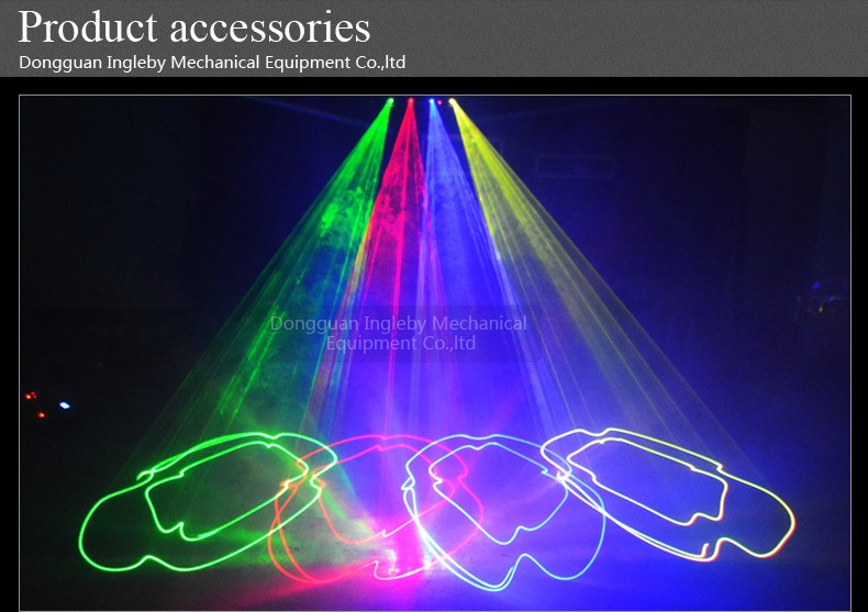 cheap price 4 lens 4 heads RGBY multi color dj equipment stage disco laser lights