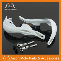 White Handlebar Hand Guards Handguards For Bosuer KAYO Apollo Xmoto Motorcycle Supermoto Off road Racing Pit Dirt Bike ATV