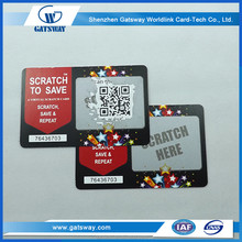 paper phone scratch card,win and prize with scratch card