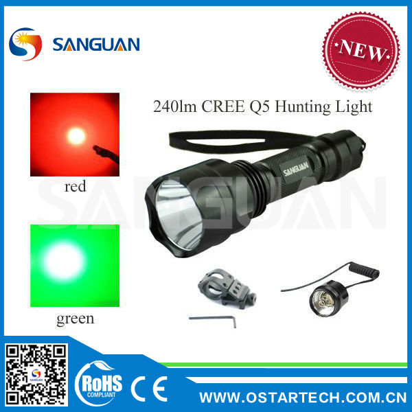 Cree Q5 Rechareable Hunting Lantern Waterproof 395nm UV Led