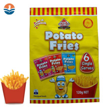 High Quality 3 Side Seal Potato Chips Packaging Bag Wholesale