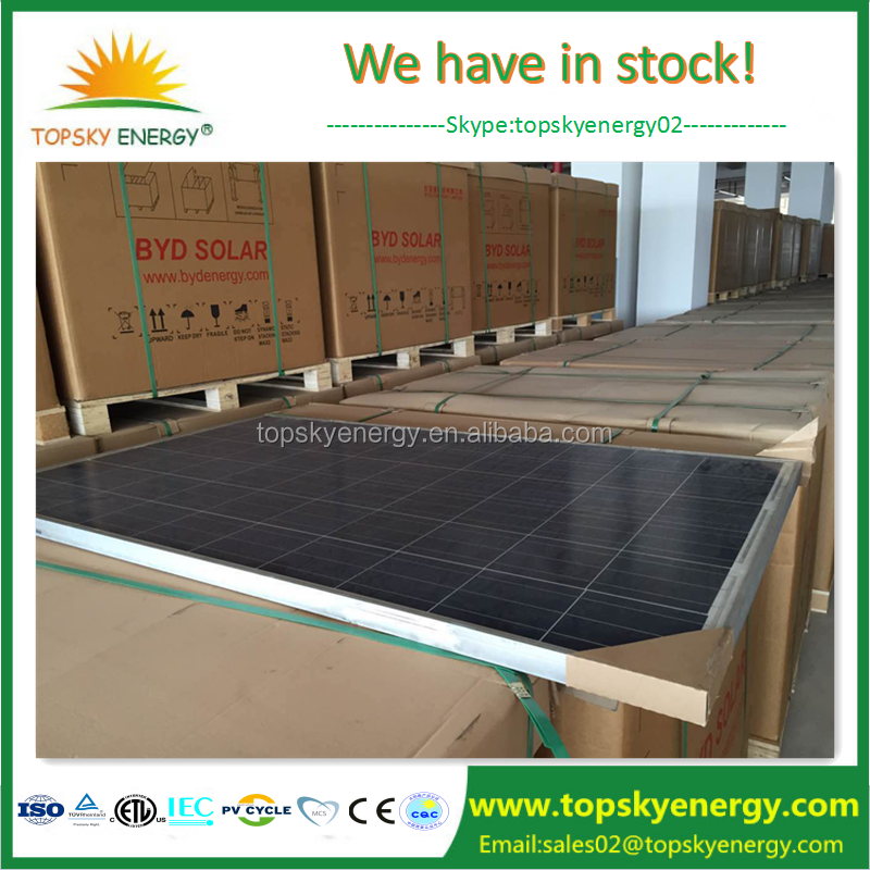 China Tier 1 manufacturer BYD wholesaler 245w 250w ploy solar panel low price for sale