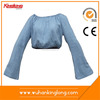 Fashion Popular long-sleeved shirt women simple jeans tops