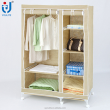 High quality portable bedroom fabric wardrobe