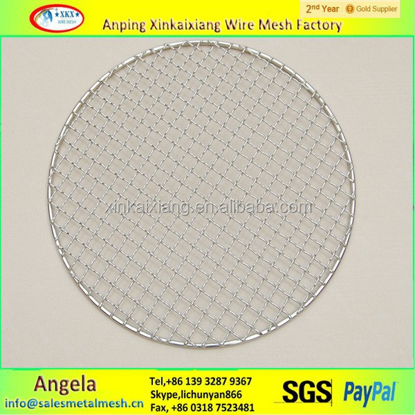 hot sale stainless steel BBQ wire mesh , good quality bbq net china factory
