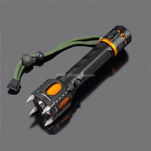 2015 multifunctional self defense tactical flashlight rechargeable / tactical police flashlight / tactical flashlight