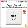 ACESEE zigbee home automation five hole mobile phone control smart socket