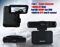 AC Promoting 3in1 built in GPS and G-sensor ambarella a2s60 dvr car