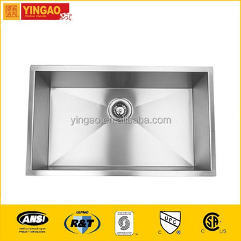 RA3219C High-tech stainless steel kitchen sink single top mount