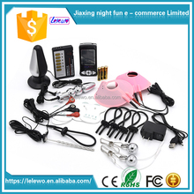 Hot-Sale Electric Shock Penis Ring Electro Anal Plug Nipple Electro Stimulator Electro Cock Expander Ring Penis Sex Toys