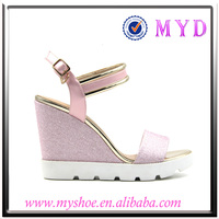 2016 sexy lady shoes ladys latest leather shoes latest carving wedge sandals