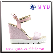 2017 sexy lady shoes ladys latest leather shoes latest carving wedge sandals
