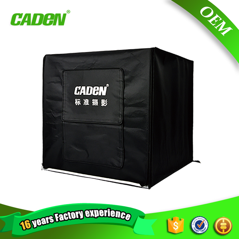 Caden professional photographic equipment product 65*64*63cm photography light box for photostudio