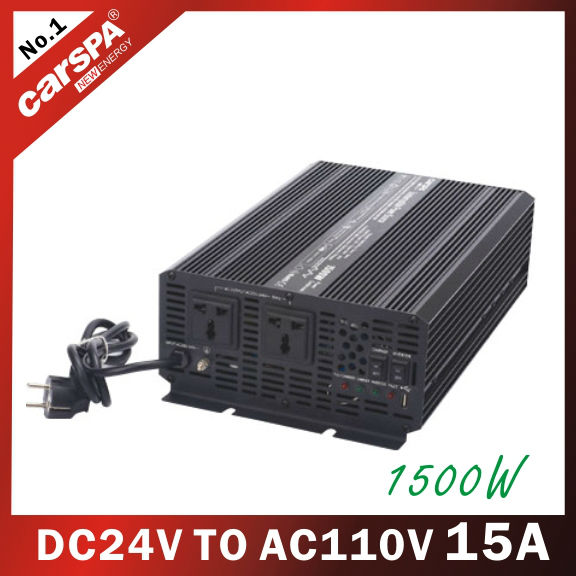 UPS series 24V DC TO 110V AC 1500W 15A modified sine wave power Inverter with charger (UPS1500)