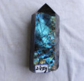 200-300mm height natural flash labradorite crystal point