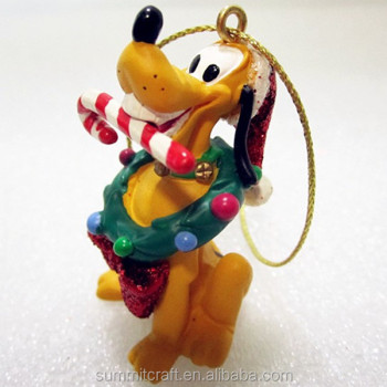 Custom 3d resin cartoon dog christmas ornament