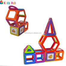 kids toys educational ABS plastic magnetic building block toys magnetic connecting blocks toys 46PCS