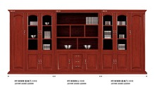 Classical red wood mirrored file cabinet factory sell directly HP39
