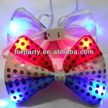 LAS-T0192 LED flashing party bow tie