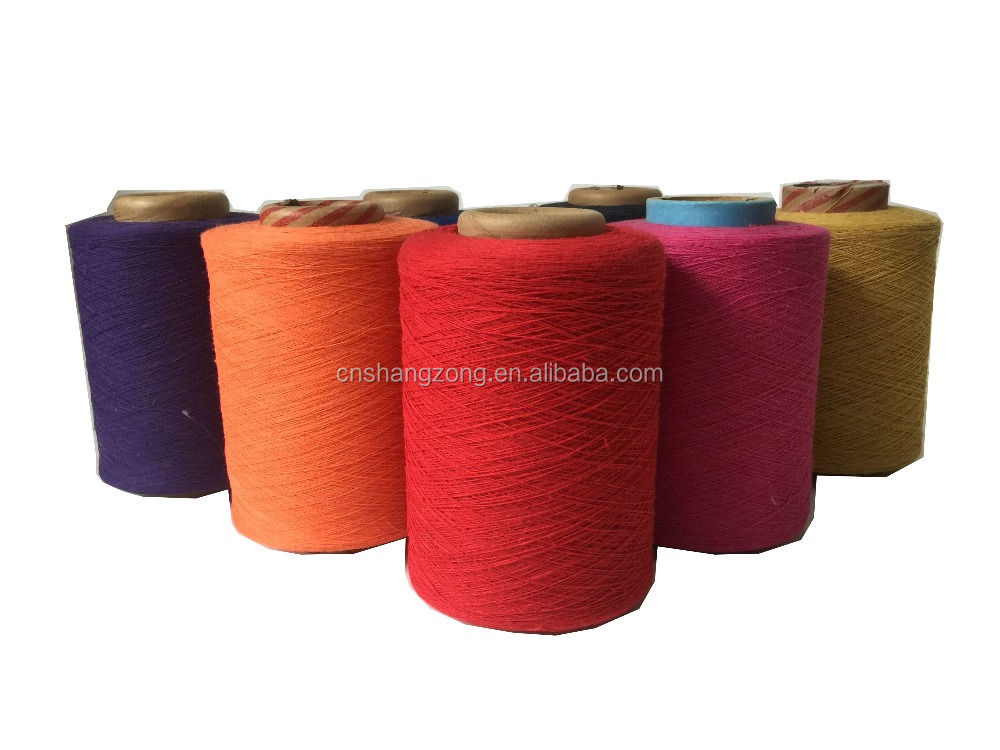 14s -24s ,12/1,8/1,18s blended recycled cotton polyester yarn factory