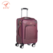 external wheels fashion upright luggage soft trolley case 900d