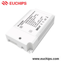 factory direct price Shanghai Euchips 40w 1 channel triac dimmable 24vdc constant voltage led driver