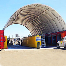 premium garage used as warehouse container canopy