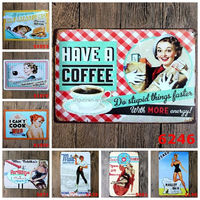Wholesale Cook Kitchen Coffee Wine Vintage tin Sign Metal Plaque Painting Retro Gift Bar Pub Friend Home Restaurant wall Decor