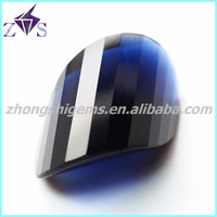 Semi-precious artificial cubic zirconia gems blue color