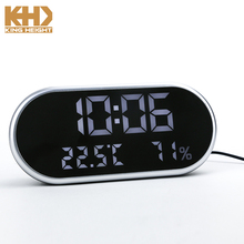 KH-0216 Bedside Table Smart Portable Phone USB LED Clock Fan USB Charger