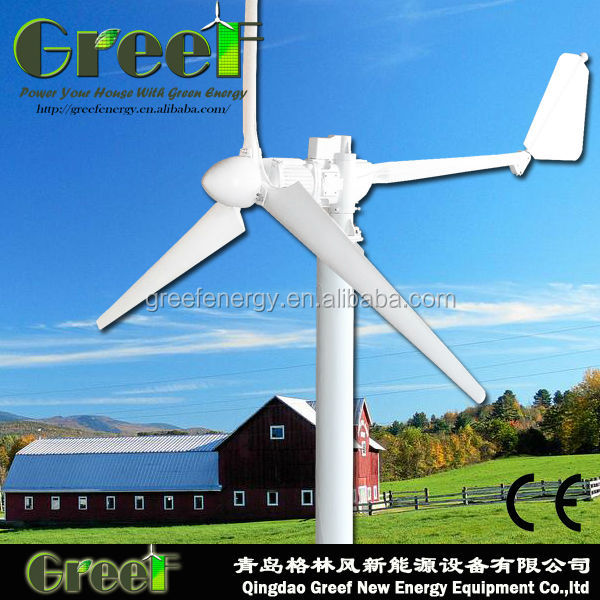 HOT!3kw High Efficiency CE Approved New Wind generator/ wind turbine