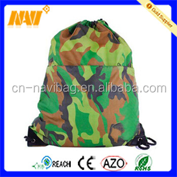 the newest fashion camouflage shoe bag with drawstring