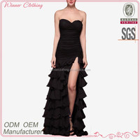 New design elegant high slit women sexy long formal evening dress