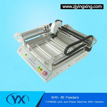 46 Pcs Feeders 2 Placement Heads SMT Pick and Place Machine + Vision system 110v / 220v Surface Mount System