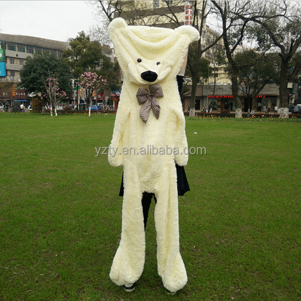 Wholesale large size plush giant teddy bear skin 100cm 200cm