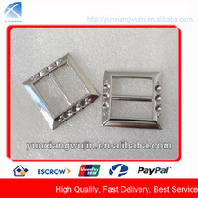CD1547 Fashion Metal Silver Rhinestone Buckles for Bags, Shoes