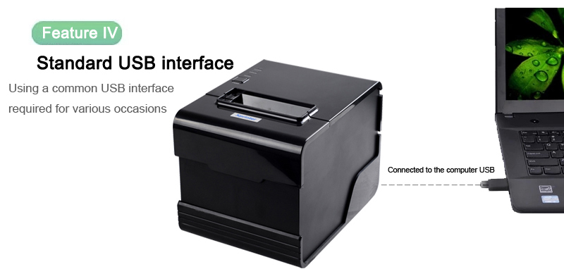80mm Thermal Receipt POS Printer Printing QR Code and Barcode printer