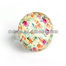 Fashion Jewelry Inner Cloth Plastic Covering Metal Adjustable Rings