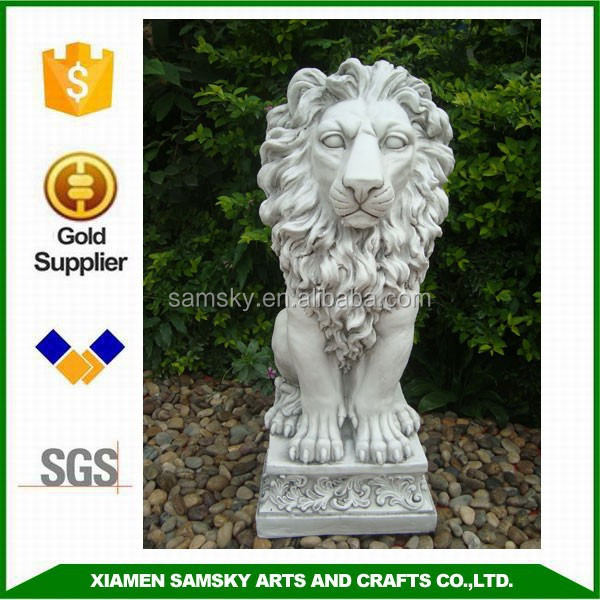 Decorative outdoor 80cm marble lion statues