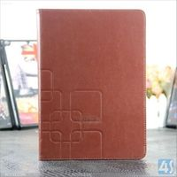 Hot new products for 2014 flower sleeve crazy horse pattern stand Leather Case for iPad air Tablet case