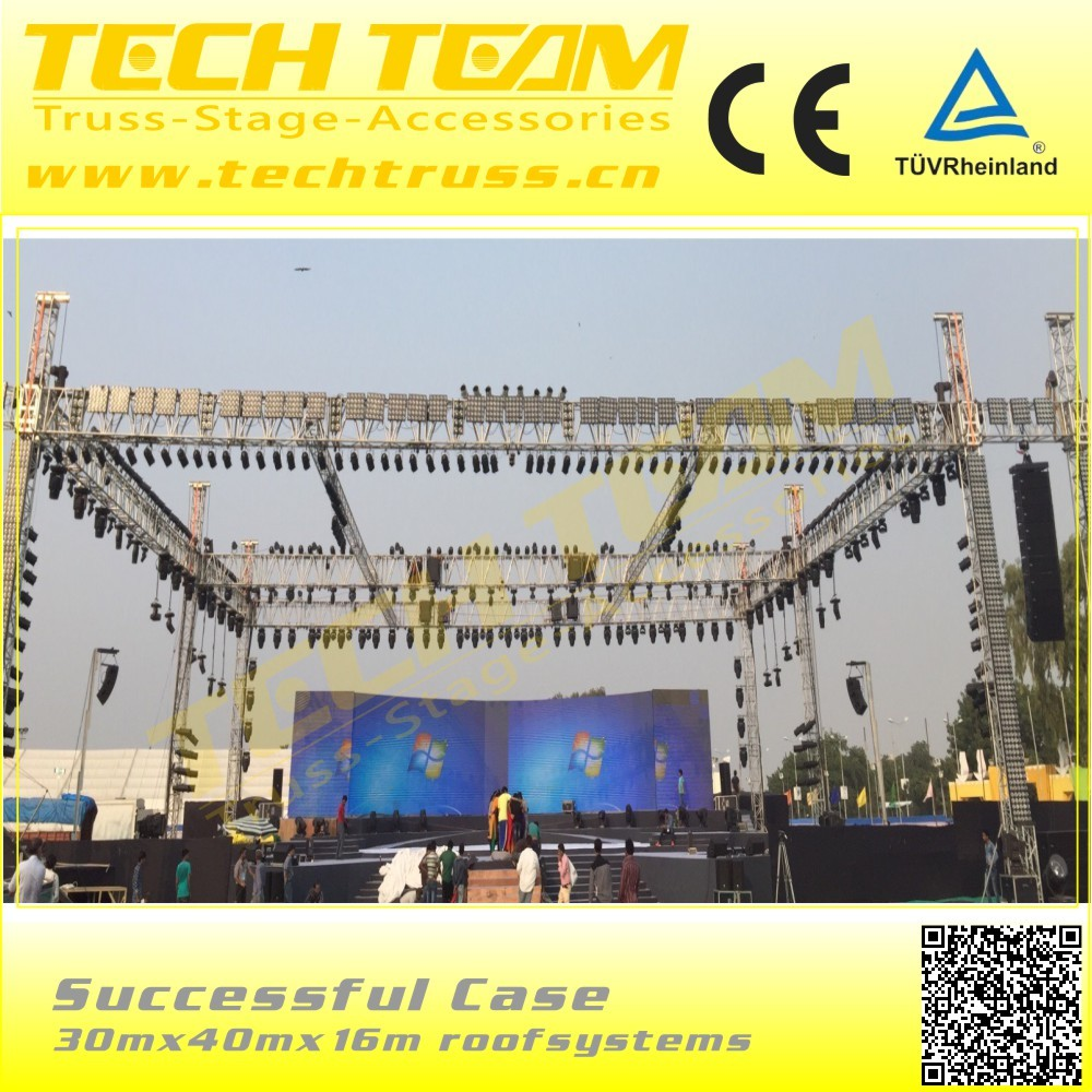 Outdoor Rectangle Aluminum Roof Truss Event Stage Roof Truss