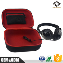 HIgh quality facotry cheap custom waterproof EVA carrying headphone case with Netted Accessories Pocket inside