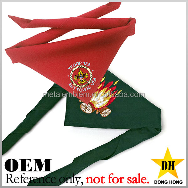 blank bulk cheap custom embroidery patch boy scout scarf